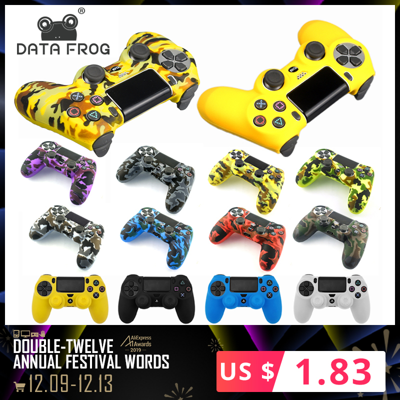 Data Frog Soft Silicone Gel Rubber Case Cover For SONY Playstation 4 PS4 Controller Protection Case For PS4 Pro Slim Gamepad