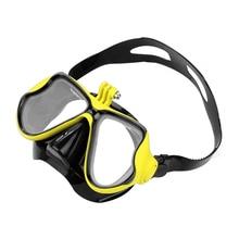 Swimming Mask Tempered Glasses Diving Mask for GoPro Hero 8 7 6 5 4 Sjcam Sj8 Yi 4K Eken Camera Scuba Mask for Go Pro Accessorie аксессуар крепление на грудь eken gp136 для gopro hero eken