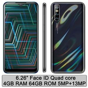 Global version Note9 Original 4G RAM 64G ROM 6.26'' Face id Mobile Phones Smartphones Quad core Android Unlocked celulars Phones