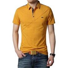 Herren T Shirts Mode 2020 5XL Sommer T Shirt Geometrische Design drehen unten Kragen Kurzarm Baumwolle T shirt Männer t 5XL