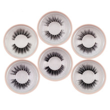 лучшая цена YSDO fluffy mink eyelashes natural long 3d mink lashes 1 pair 3d false lashes hand made lash makeup mink eyelashes volume lash
