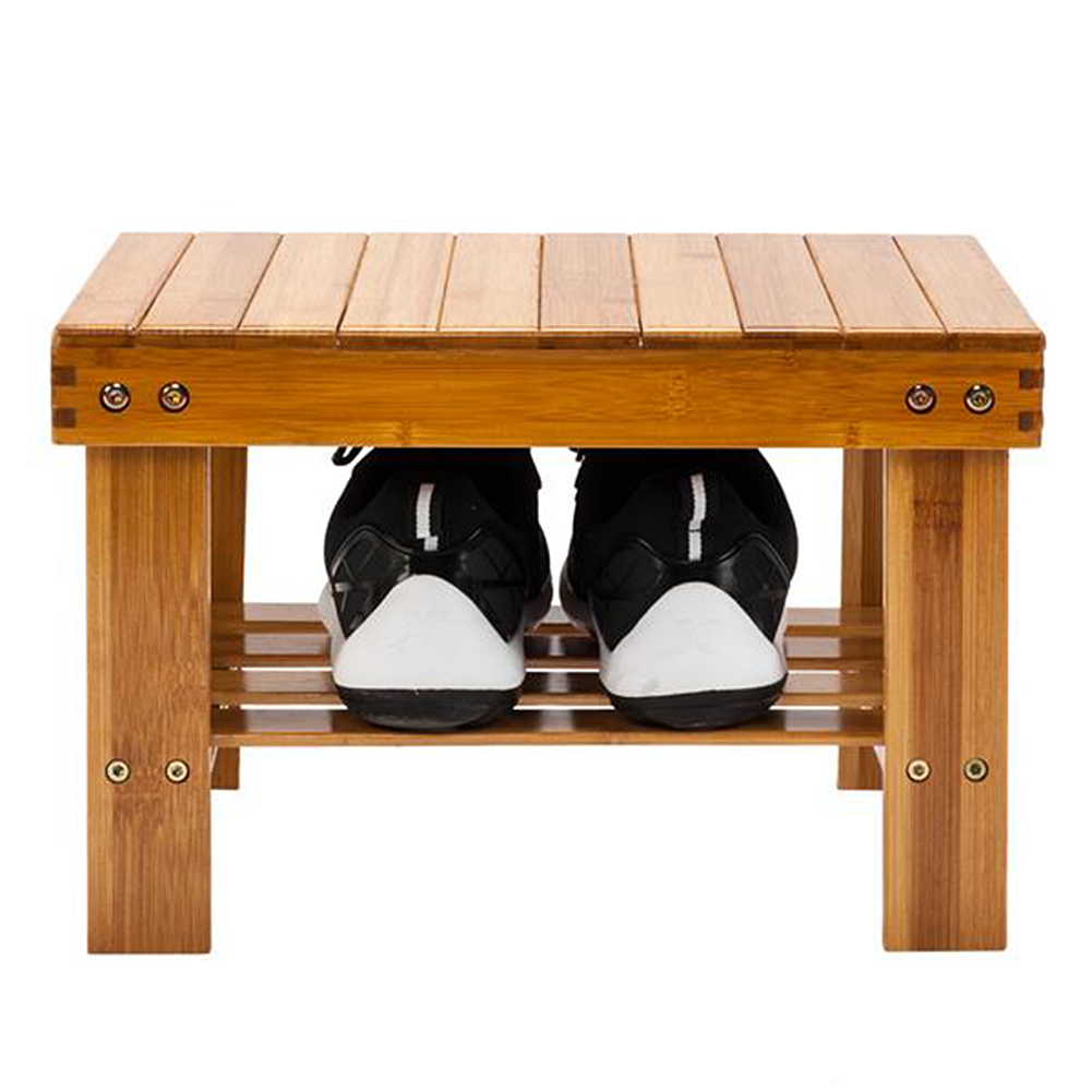 Children Bench Stool Foot Rest Stool with Storage Shelf for Bathroom Living Room Bedroom multi-purpose shoe rack