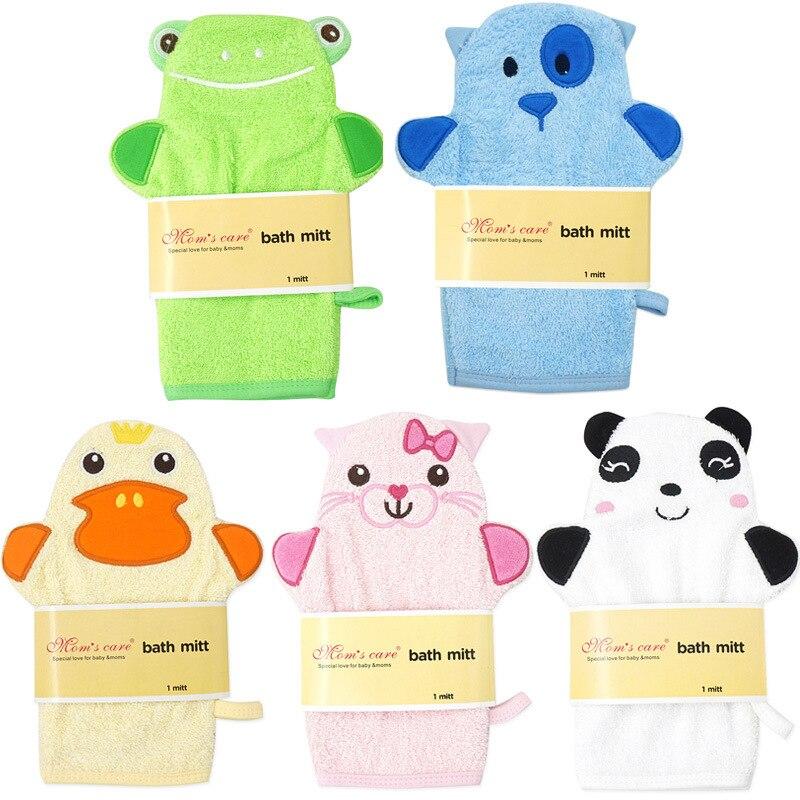 Y128 Baby Infant Cartoon Soft Bathing Bathroom Mitt Glove Foam Rub Shower Sponge Exfoliating Wash Cloth Towel Optional Pattern