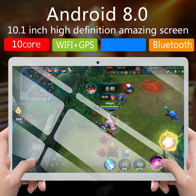 2019 New 10 Inch Android 8.0 Tablet Octa Core RAM 6GB ROM 16GB/64GB/128GB 4G Dual SIM Card Phone 4G Call Wifi Tablets PC