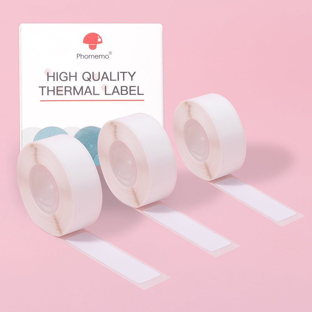 Home Organization Flat Labels for Phomemo D30 Thermal Printer School Name Label Sticker Self-Adhesive 12*22mm 260pcs/roll