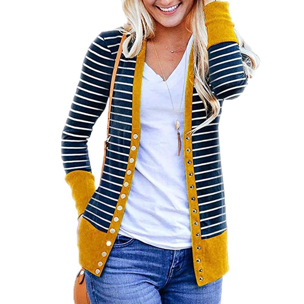 Autumn Fashion Women Cardigan Jacket Coats Long Sleeve Stripes Jacket Female Outwear For Women's Clothings