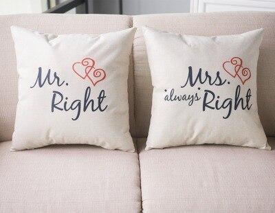 New arrival coreless Pillowcase Creative English alphabet About Love cotton linen pillowcase automobile