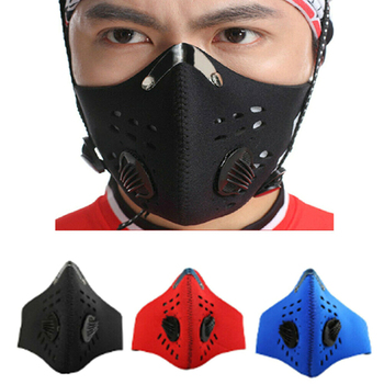 1PC Anti Pollution Mask Air Filter Activated Carbon Mouth Face Mask Double Respirator Anti Haze Anti Allergy Flu PM2.5 Dust Mask
