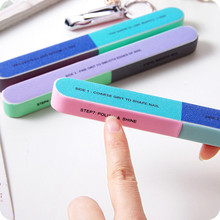 Шестисторонняя пилочка для ногтей инструмент креативный рисунок Шлифовальная Пилка Для ногтей профессиональная пилка для ногтей Прямая поставка