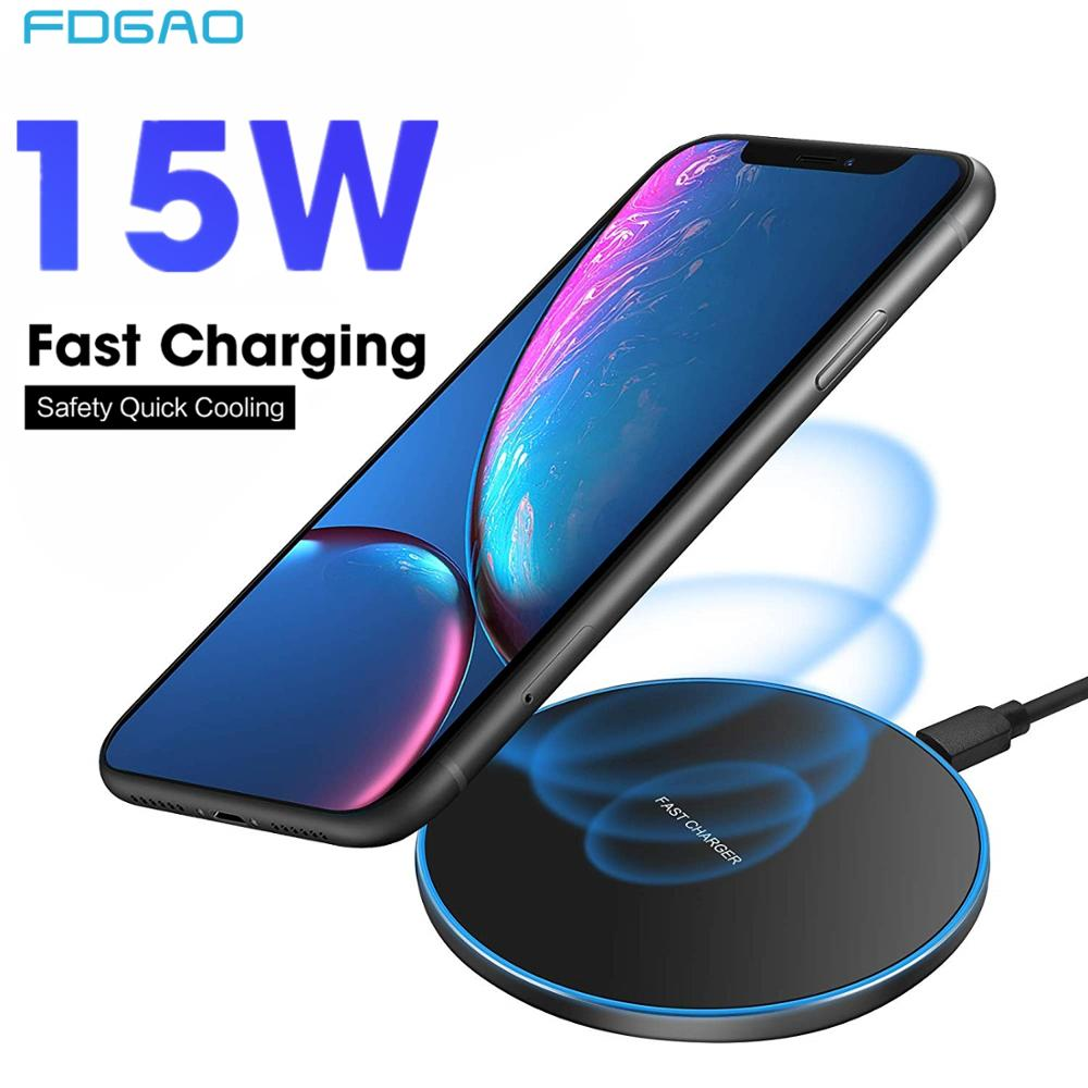 15W Qi Wireless Charger Pad For IPhone X XR XS 8 Plus Quick Charge USB Charging Dock For Samsung S9 S8 Note 9 8 Xiaom Mix 2s 3