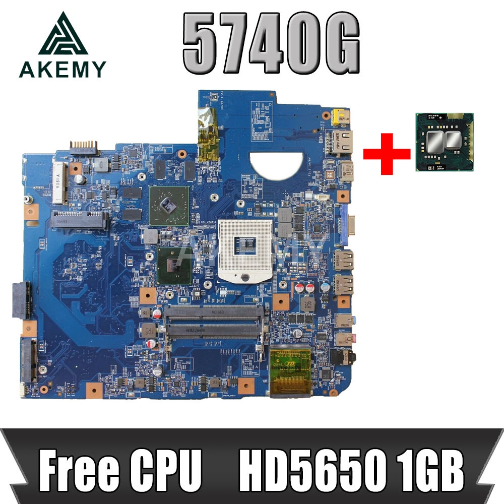 Akemy For Acer aspire 5740 5740G Motherboard MBPM701001 MBPM701002 48.4GD01.01M JV50-CP MB 09285-1M MAIN BAORD HD5650 1GB image