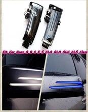 Dla Mercedes Benz A B C E S CLA GLA GLK klasa CLS LED dynamiczny włączanie sygnału migacz korzystając z łączy z boku kierunkowskaz w lusterku światła W176 W204 W212
