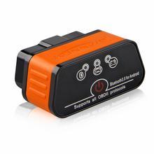 ELM327 OBD2 сканер Авто ICar2 KONNWEI Bluetooth ELM 327 в 1,5 автомобильный диагностический инструмент EML327 OBD 2 сканер Pic18f25k80 чип