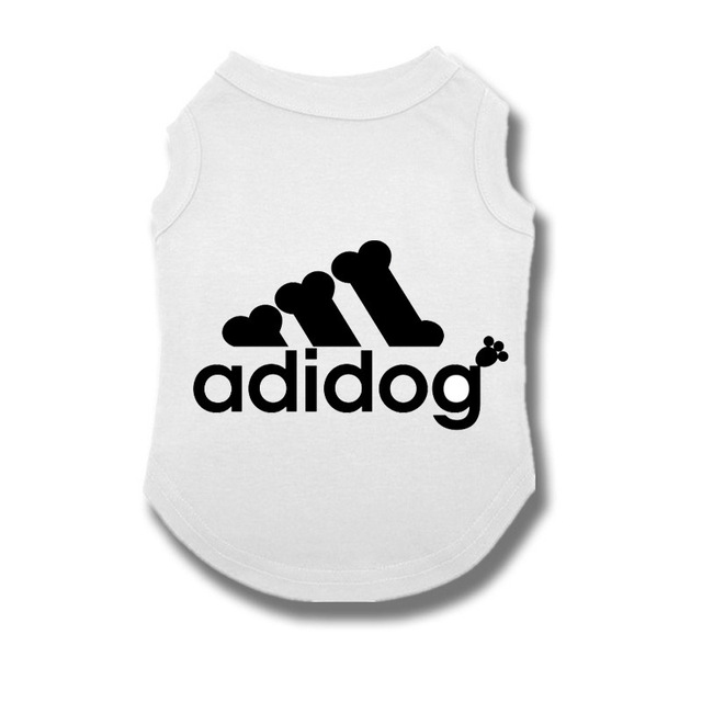 Adidog Summer Pet Dog Cat Vest Clothing for Small Large Dogs,Breathable 100% Cotton Pet Shirt,Chihuahua French Bulldog Clothing 4
