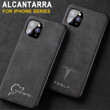 Luxury Racing Car Logo Cover Case for iPhone 11 Pro Max Xs XR 12 Mini 6s 7 7plus 8 Sport Brand Luxury Suede leather phone coque