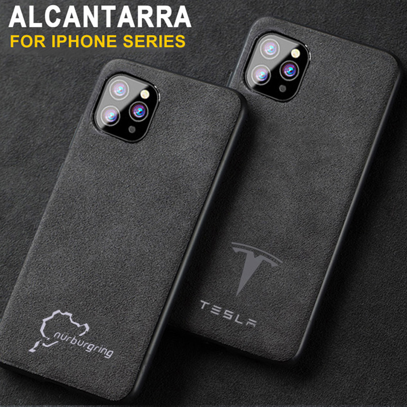 Luxury Racing Car <font><b>Logo</b></font> Cover <font><b>Case</b></font> for <font><b>iPhone</b></font> 11 Pro Max Xs XR 6s 7 7plus <font><b>8</b></font> 8plus Sport Brand Luxury Suede <font><b>leather</b></font> phone coque image