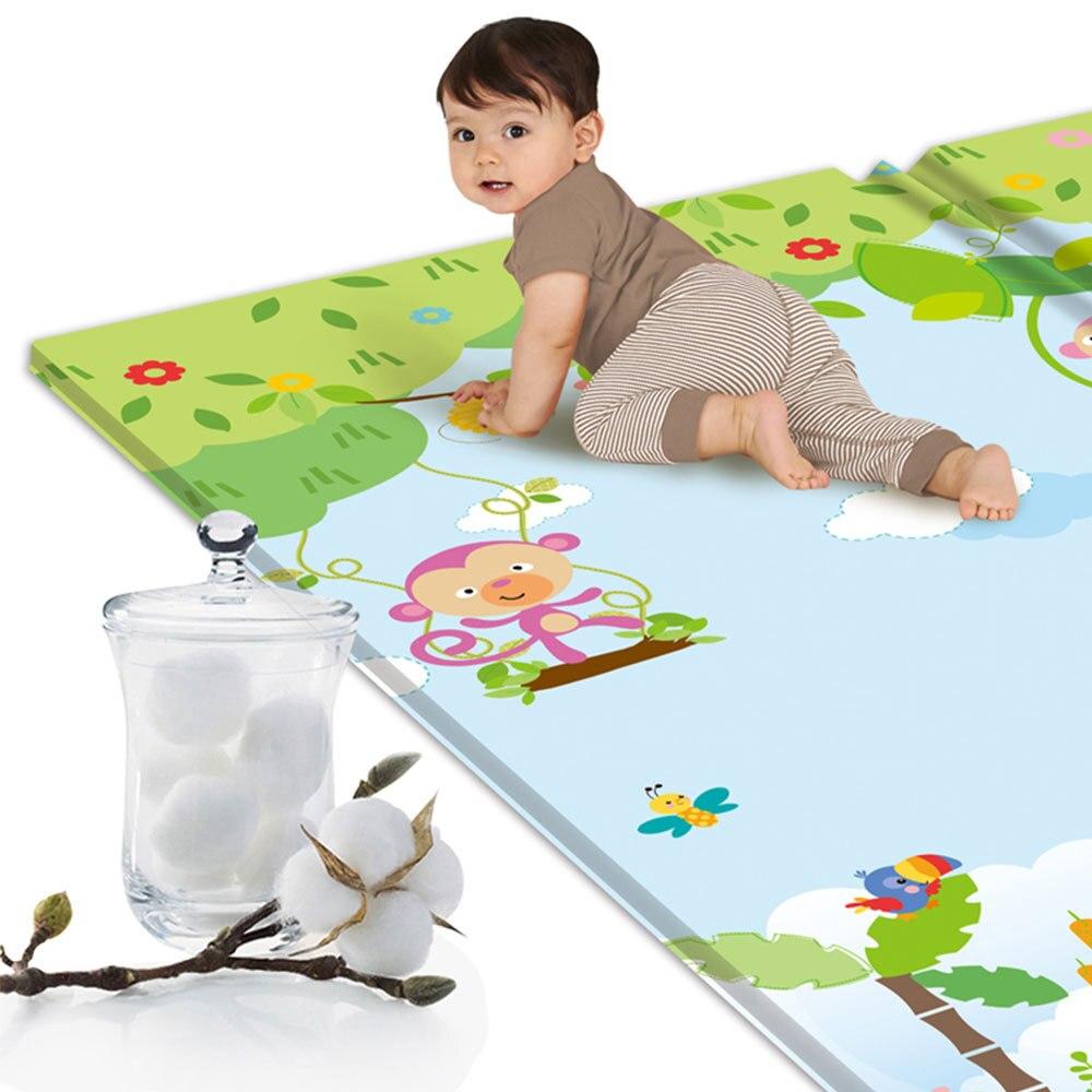 Tapis de jeu anti-dérapant pour bébé tapis de jeu pliant pour enfants tapis de jeu en mousse souple tapis rampant pour matelas de jeu tapis d'activité pour bébé - 3