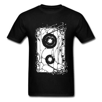 80 #8217 s Retro kasety koszulki z krótkim rękawem czarne bluzki i koszulki Rock muzyka DJ koszulki Crewneck 100 bawełna oddychające koszulki dla mężczyzn tanie i dobre opinie LYNSKEY O-neck tops Tees Regular Short Sleeve Suknem COTTON SILK Poliester Włókno bambusowe Modalne Stretch Spandex