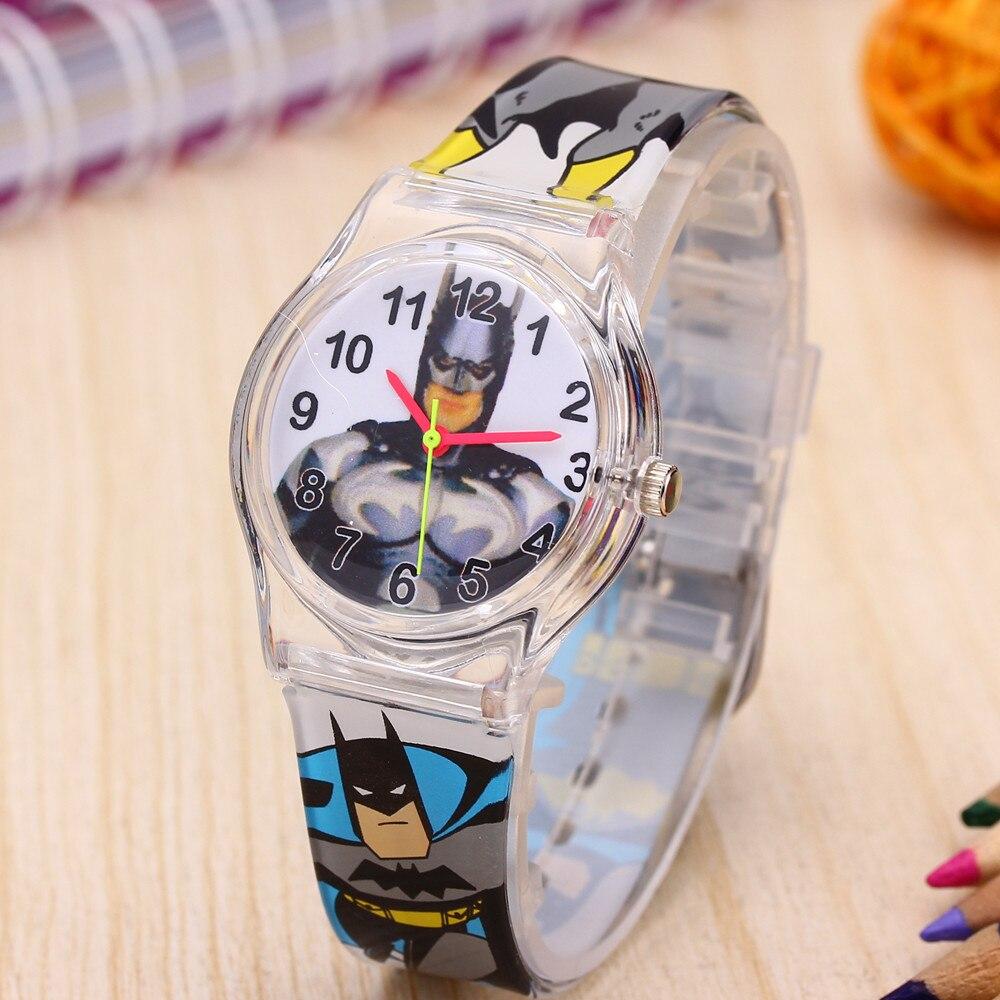 2019 популярные детские часы в стиле Бэтмен, часы с резиновым ремешком, кварцевые часы с человеком-пауком, наручные часы для студентов, Saats Montre