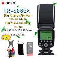Triopo TR-586EX Drahtlose Modus TTL Speedlite Blitzgerät Für Canon 5D Nikon D750 D800 D3200 D7100 DSLR Kamera als YONGNUO YN-568EX