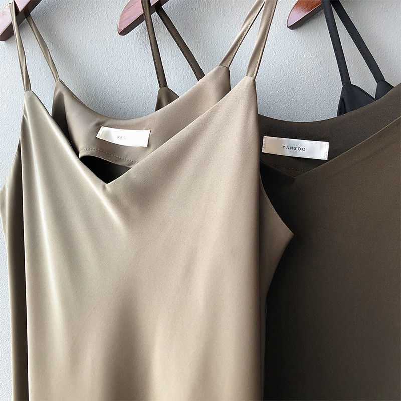 New Arrival Women V-Neck Sleeveless Women Dress Y5702 Vintage Satin Summer Long Dress Boho Elegant Women Casual Dress Vestidos (25)