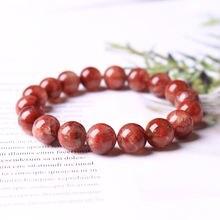 Натуральный драгоценный камень красный Аврора 23 кристалл браслет