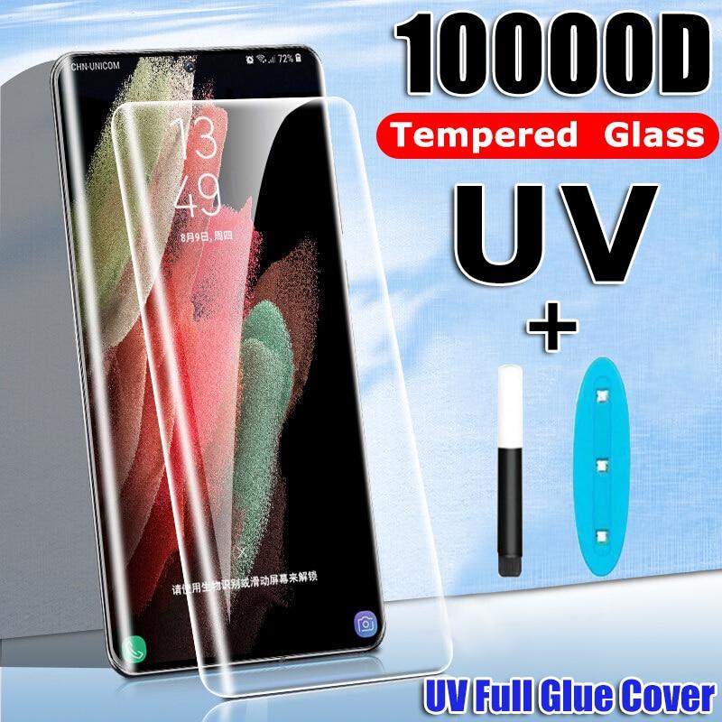 Закаленное стекло для Samsung Galaxy S8 S9 S10 S20 S21 Plus Note 8 9 10 Pro Note 20|Защитные стёкла и плёнки для телефонов|   | АлиЭкспресс