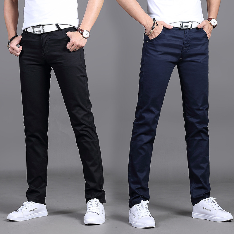 MEN'S Casual Pants Going To Work Trousers Slim Fit Straight-Cut Teenager Students Korean-style Trousers Plus-sized Men's Trouser