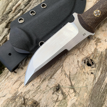 D2 Steel TUNAFIRE new fixed knife high-end Micarta handle field hunting self-defense tactical knife with Kydex Sheath 3