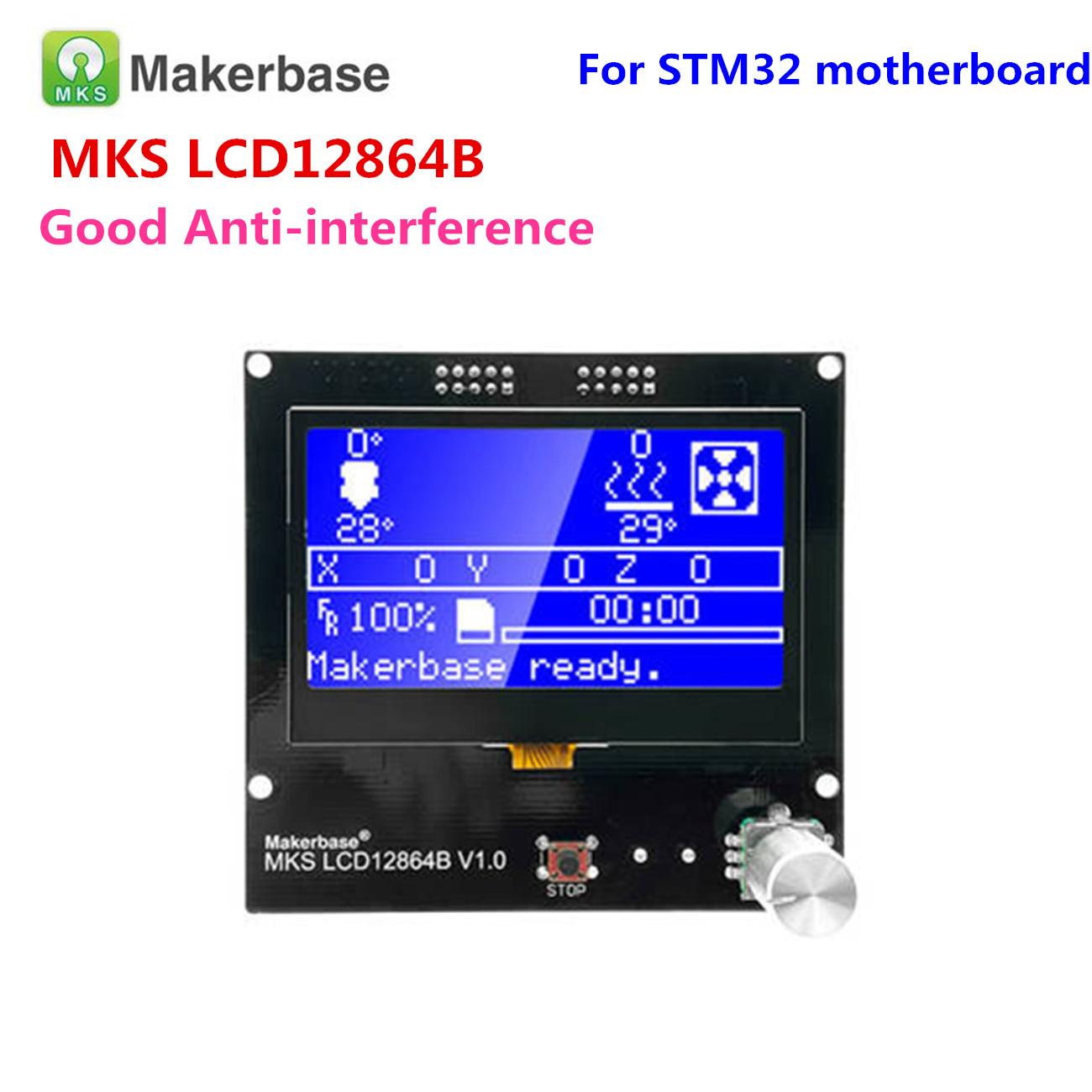 3D Printer Display Panel LCD12864 Controller Reprap 12864 Lcd MKS LCD12864A Screen LCD Module For MKS Gen V1.4 GEN_L Motherboard