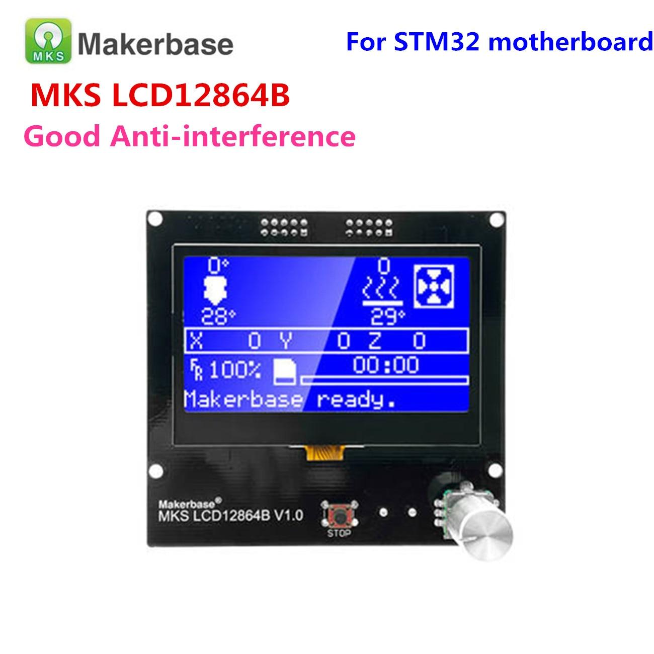 3D Printer Display Panel LCD12864 Controller Reprap 12864 Lcd MKS LCD12864A Screen LCD Module For MKS Gen V1.4 GEN_L Motherboard