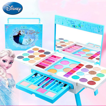Disney Frozen Dressing Tables Makeup Toys Dream Princess Table Set House Toys Water-soluble Children's Cosmetics X4920