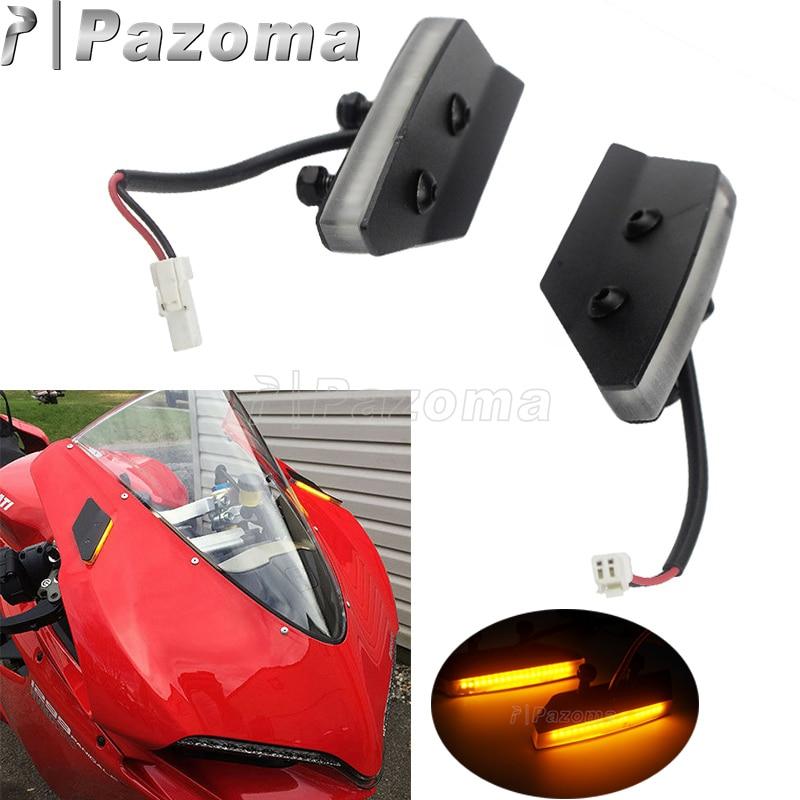 Plug and play preto espelho bloco fora led sinais de volta para ducati 959/1299 panigale motocicleta led pisca indicador sinal volta