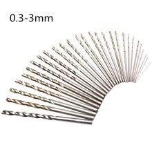 Excelente qualidade 10 pces 0.3mm-3mm micro hss torção bocados de perfuração haste reta elétrica metal/madeira/plástico broca conjunto de ferramentas
