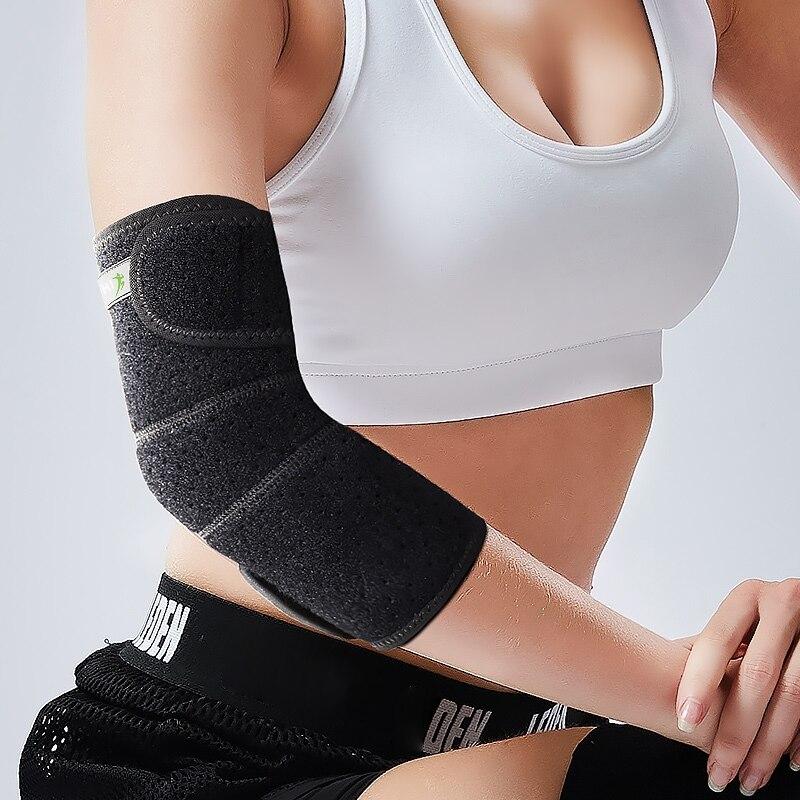 Спорт на открытом воздухе утягивающий налокотник Поддержка подкладка со стяжкой травмы ремень для помощи Регулируемая Защита для локтей повязка эластичный спортивный для спортивного зала локоть