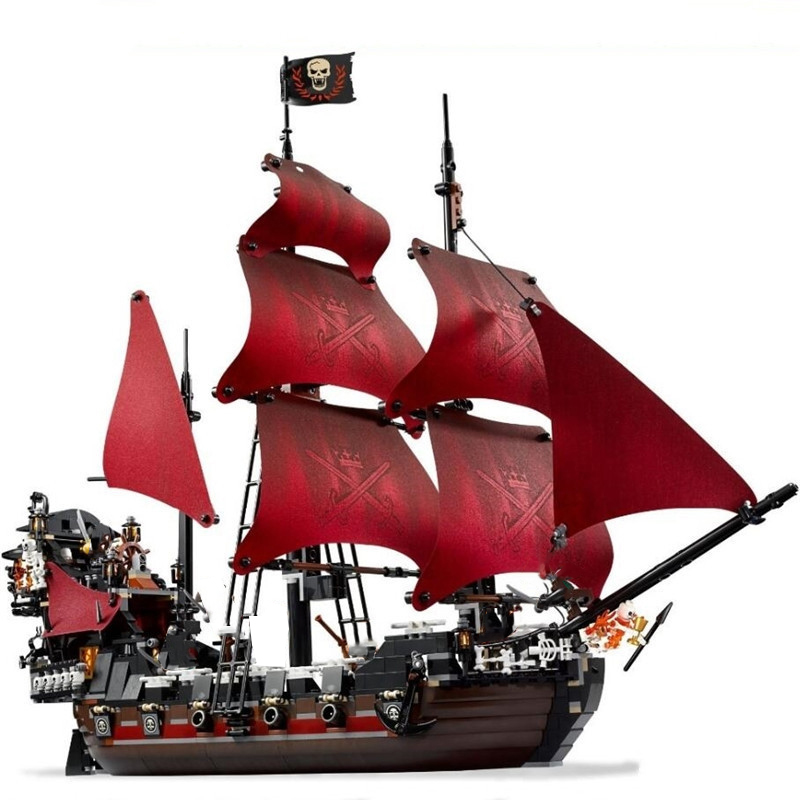 New The Queen Anne's Revenge Pirates Of The Caribbean Building Blocks Bricks Set With Legoinglys 4195 4184 Kids Toys Model