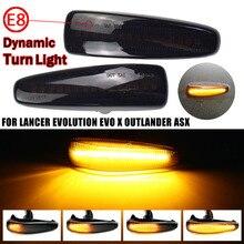 2Pcs แบบไดนามิก LED Side Marker ไฟไหล Turn ไฟสัญญาณ Blinker สำหรับ Mitsubishi ASX 2011 2012 Pre Facelift รุ่น
