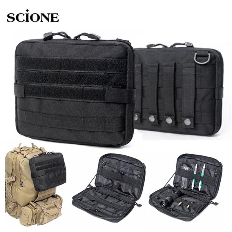EDC ระบบทหารกระเป๋ายุทธวิธี MOLLE กระเป๋าเป้สะพายหลังทหารกระเป๋ากีฬากลางแจ้ง Multi-Function กันน้ำ 1000D ไนล...