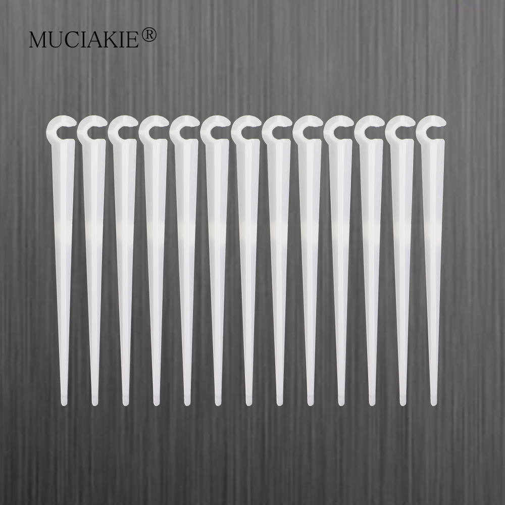 MUCIAKIE 30PCS 11cm Fixed Stake For Drip 4 / 7mm Irrigation Hose Easy Installation Inserting Ground For Gardens Lawns