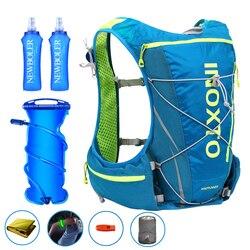 10L Running Hydration Vest Backpack Men Women Outdoor Sport Bags Trail Marathon Jogging Hiking Backpack option Water Bag Flask