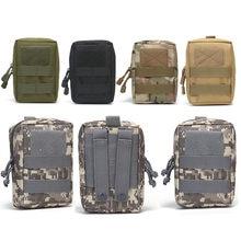 Pochette de chasse Airsoft avec coque de téléphone, accessoire de taille,poche médicale tactique du système Molle, utilitaire, pack ou outil EDC 1000D,