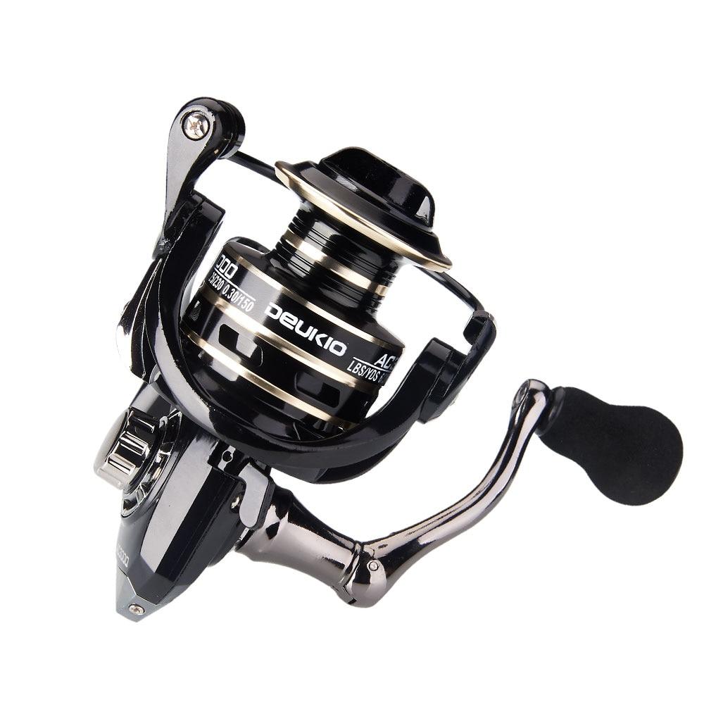 2020 New 13+1BB Fishing Spinning Reel 2000-6000 No Gap Metal Spool Gear Ratio 5.2:1  Reel Carp Fishing Gear Pesca