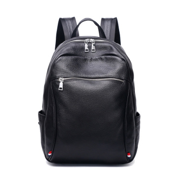 SWDF 100% Genuine Leather Business Men Backpack Bag High Quality Water Proof Travel Backpack Men External Computer Bags Mochila