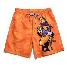 Newest 3D Banana Masked Man Printed Board Shorts Sunga Mascu