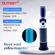 RZ129 ручной Цифровой рефрактометр пивной суслон, сахар, спирт, сусток, гидрометр, тестер для вина солода 1,0~ 1,13, рефрактометр пива