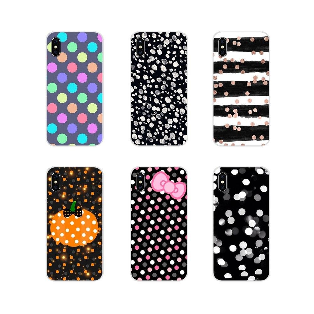 Pour Samsung A10 A30 A40 A50 A60 A70 M30 Galaxy Note 2 3 4 5 8 9 10 PLUS Accessoires Téléphone Étuis À Pois