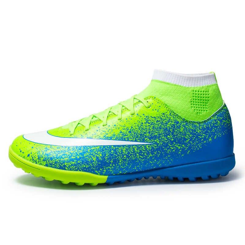 Zhenzu novo relvado botas de futebol dos homens sapatos de futebol crianças meninos chuteiras estudante treinamento esporte tênis eur tamanho 28-44 scarpe da calcio