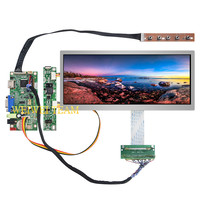 Ultra Wide 10.3 inch 1920x720 IPS LCD Screen Stretched Bar LCD Display 50 Pins LVDS VGA HDMI Driver Board High Brightness