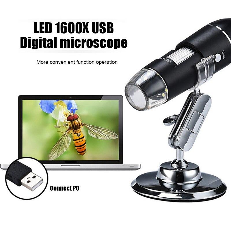 Multifunctional Digital Microscope 1600X High Definition USB Micro Scope Camera CLH@8