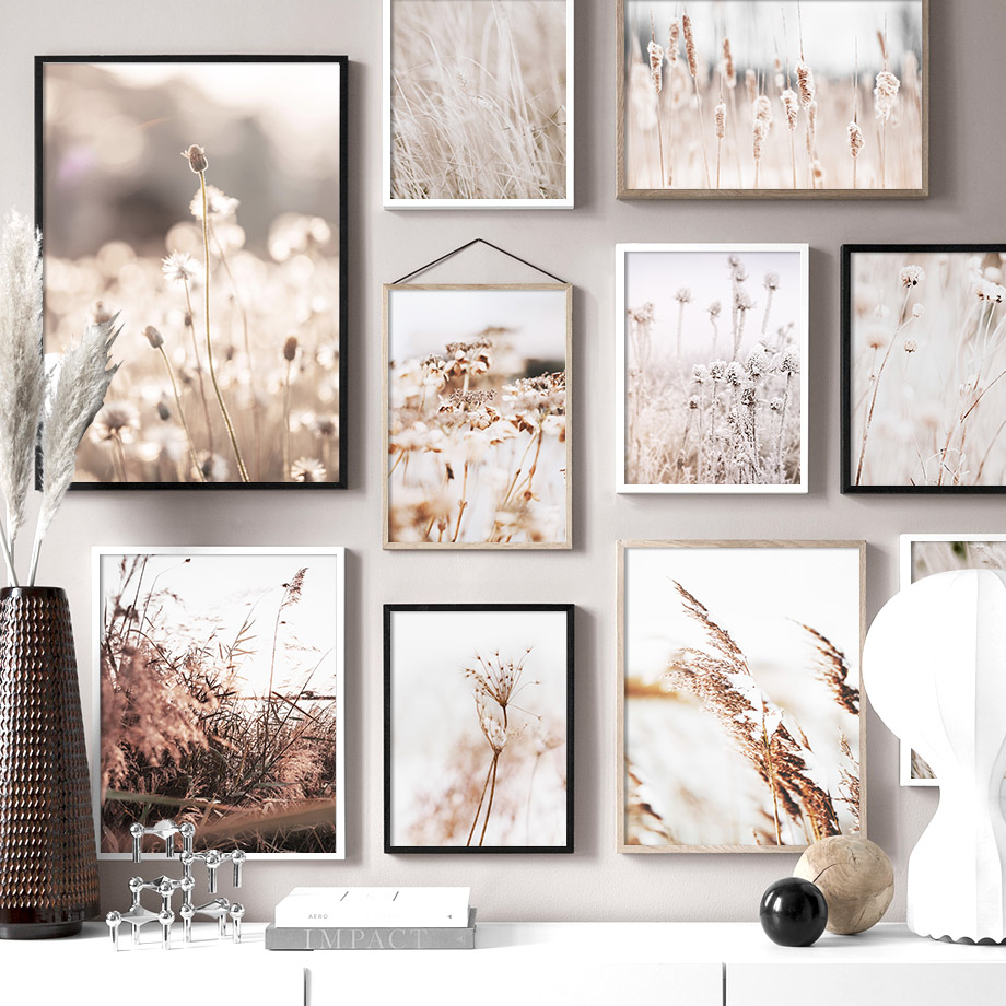 Rice Dandelion Autumn Plants Wall Art Canvas Painting Landscape Nordic Posters And Prints Wall Pictures For Living Room Decor
